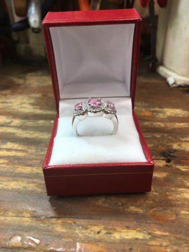 Royal Dazzy Exclusive Pink Halo Cubic Zirconia Engagement Wedding ring S 7.75 - 3 Royal Dazzy