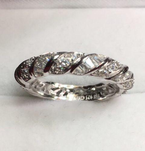 Royal Dazzy Eternity All Around Cubic Zirconia Handset Wedding ring Band S-6 - 3 Royal Dazzy