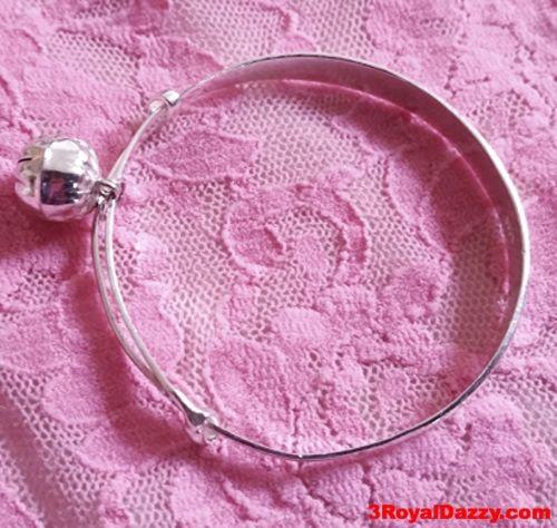 Handmade 925 Solid Silver Flat Adjustable 12 Chinese Zodiac Animal Baby Bangle - 3 Royal Dazzy