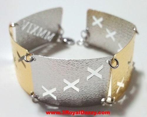 14k Y & W Gold Layer on 925 Silver Bracelet- 3RoyalDazzy.com Handmade Exclusive6 - 3 Royal Dazzy