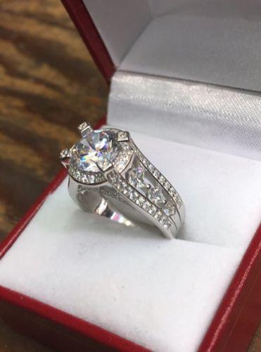 Royal Dazzy Exclusive 4.0ct Round Cubic Zirconia Engagement Wedding ring S-6 - 3 Royal Dazzy