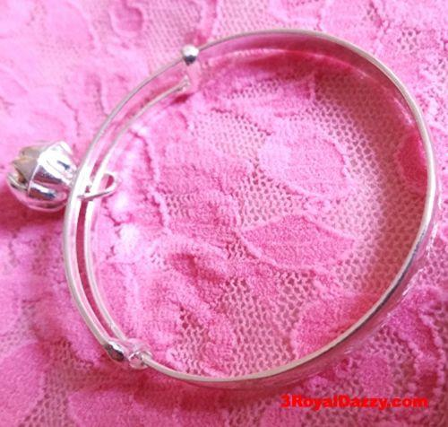 New Handmade .925 Sterling Silver Asian Blessing Newborn Baby Adjustable Bangle - 3 Royal Dazzy