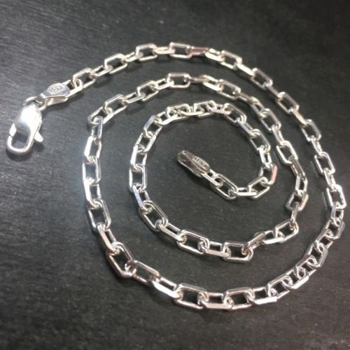 New anti-tarnish 925 solid silver italian children cable chain necklace 3.5mm16""