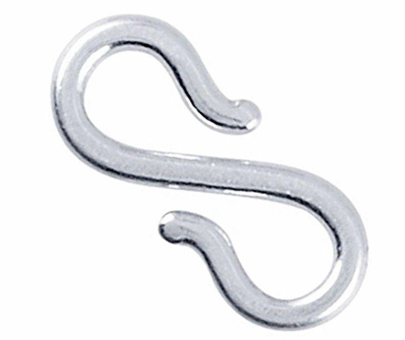 Large Handmade Solid Sterling Silver S Hook Clasp Component Findings Repair 13mm