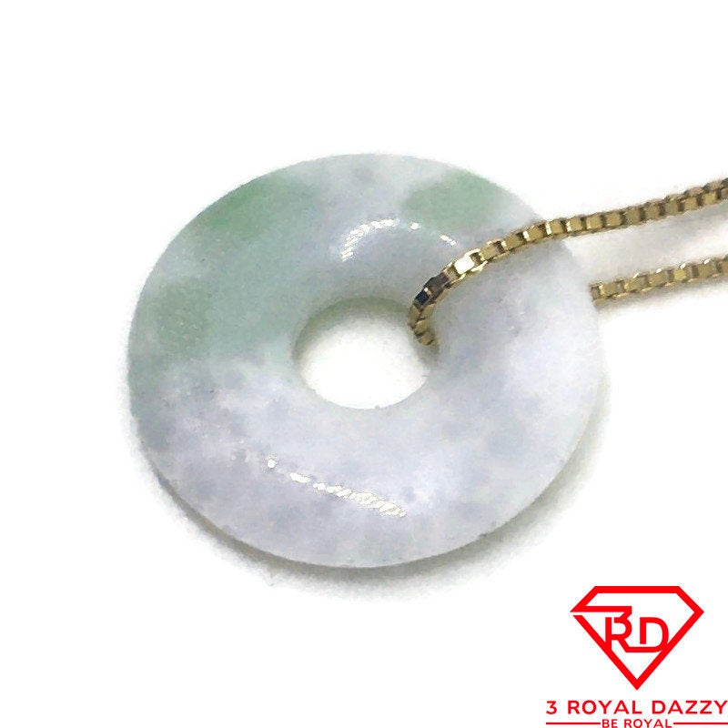 Tiny Smooth plain Round White Jade Pendant Charm
