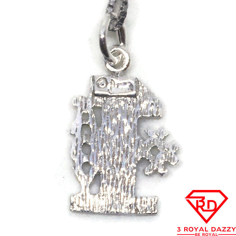 First Lady charm pendant 925 Sterling Silver