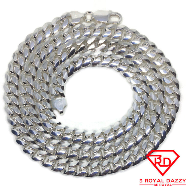 Heavy Miami Cuban Chain 24 inch Necklace 925 Silver