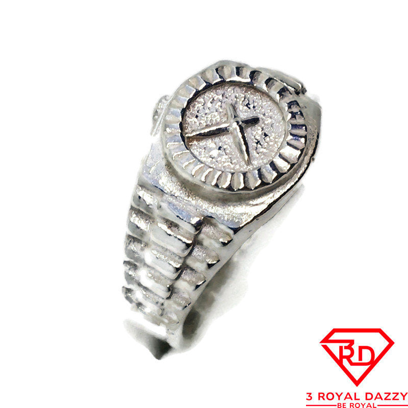 Wrist Watch ring band 925 Solid silver S7