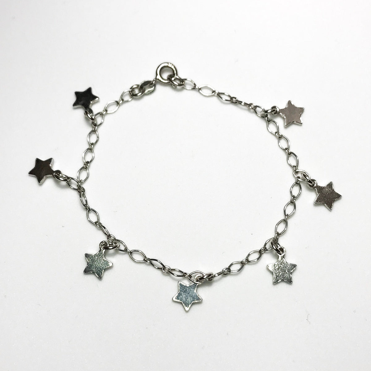 NEW .925 Sterling Silver Fill in Star Shaped Bracelet