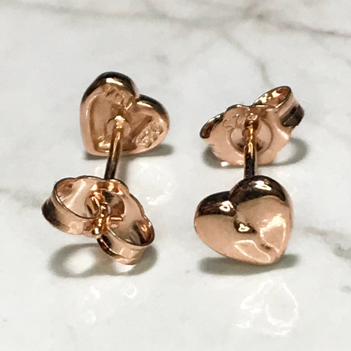 NEW 14K Gold Layered on Sterling Silver Tiny Broken Heart With No Stone Earrings