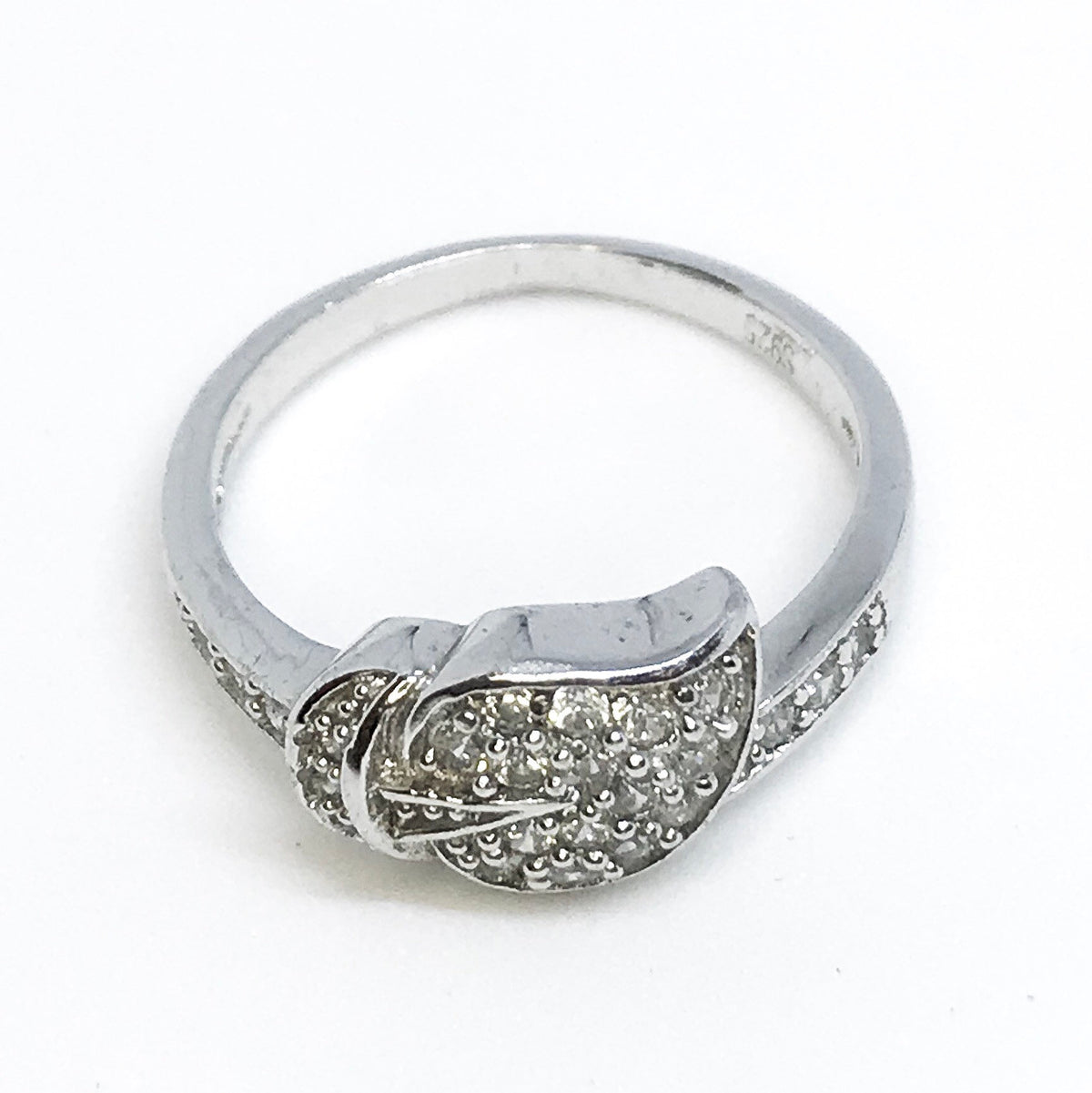 NEW 14K White Gold Layered on Sterling Silver Leaf Ring