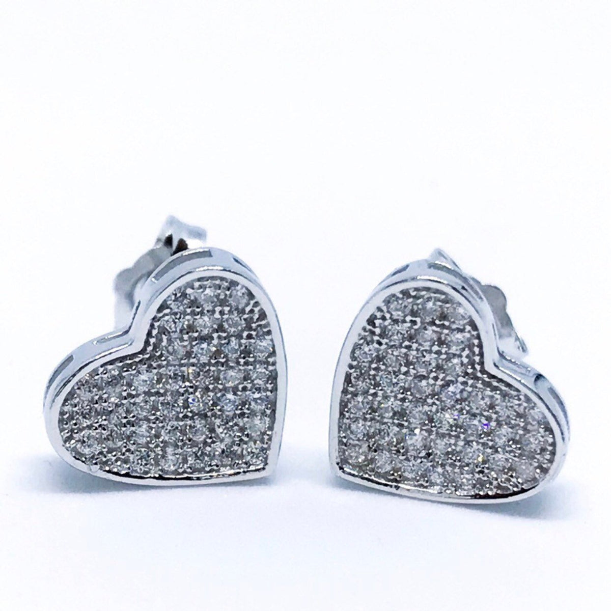 Heart Shape Sterling Silver Earrings