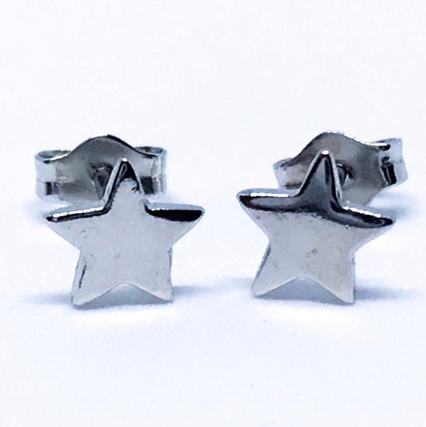 Small Sterling Silver Star Earrings
