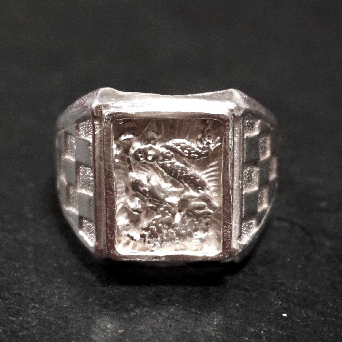 Anti Tarnished 9 2 5 Sterling Silver Zodiac Shiny Dragon Men's Ring ( Size : 1 0 . 5 )