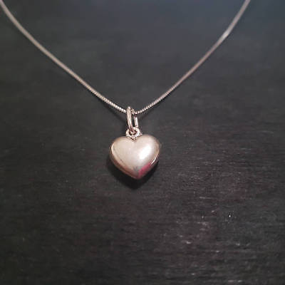 Anti tarnished 925 Small Sterling Silver Reflective Heart Pendant Charm with fr