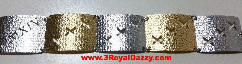 14k Y & W Gold Layer on 925 Silver Bracelet - 3RoyalDazzy.com Handmade Exclusive- 6 - 3 Royal Dazzy