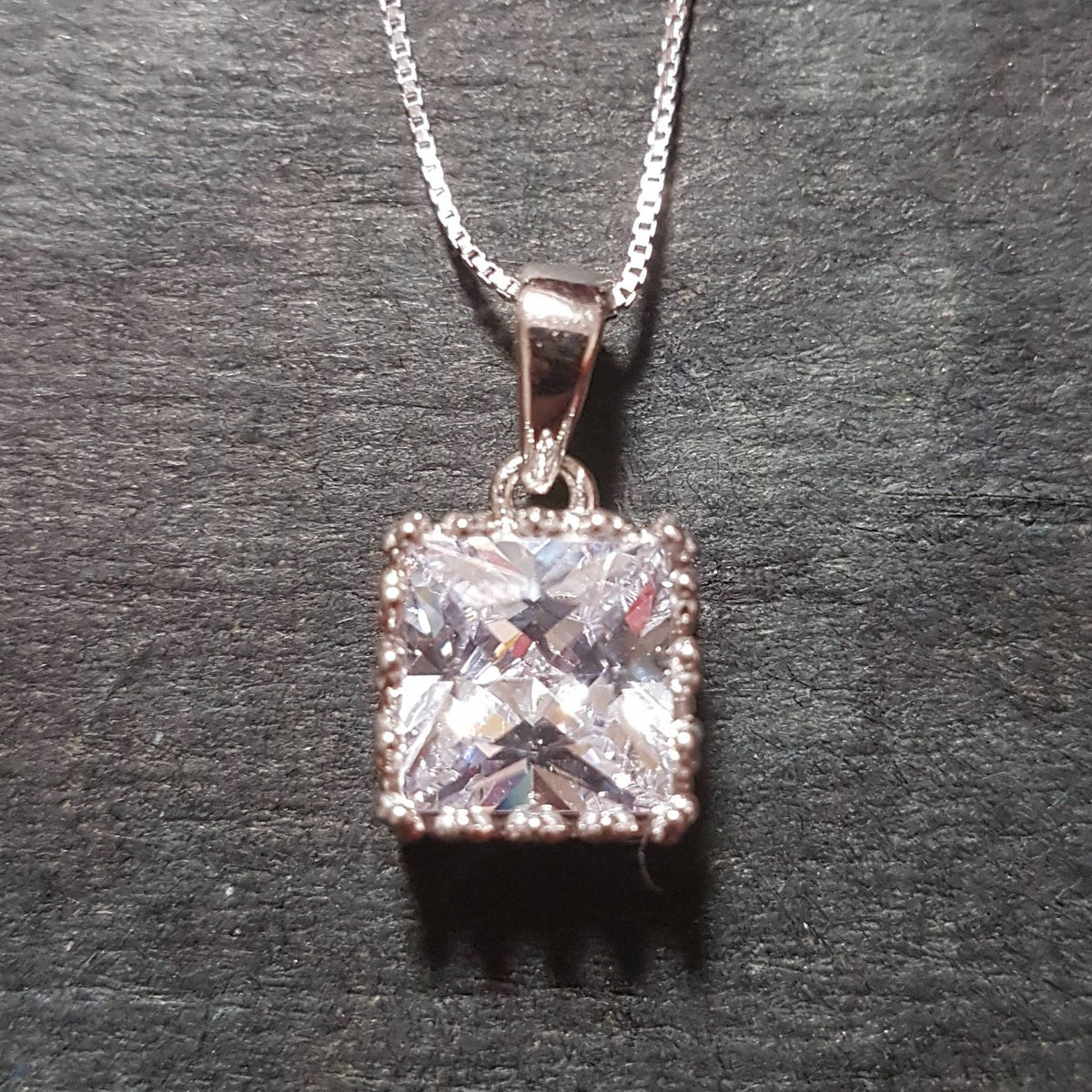 New 14k White Gold On 925 King Crown Pendant Charm