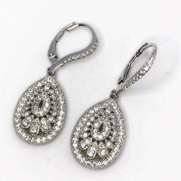 Fancy Sterling Silver Dangling Earrings