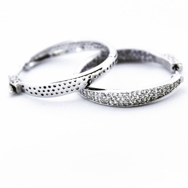 Stylish Sterling Silver Hoop Earrings