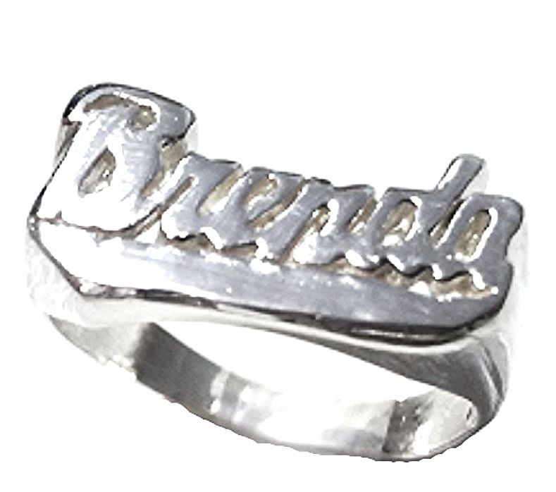 "Personalized Name Ring Custom Name Solid 925 Sterling Silver Customized ""Brenda"""