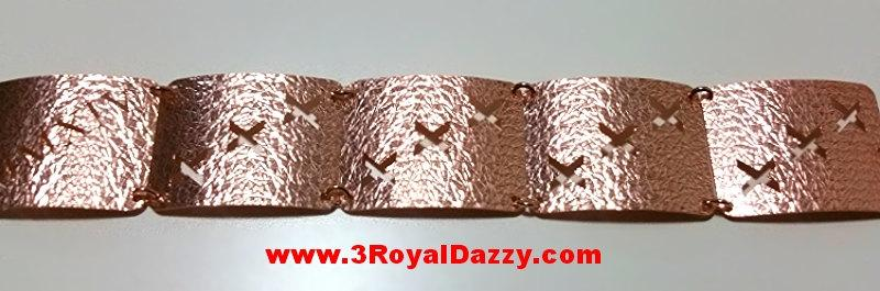 14k Rose Gold Layer on 925 Silver Bracelet - 3RoyalDazzy.com Handmade Exclusive- 11 - 3 Royal Dazzy