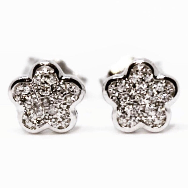 Cute Little Sterling Silver Flower Earrings