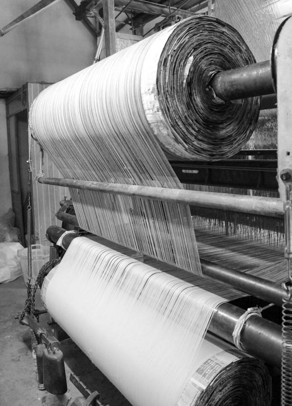Turkish shuttle loom in action