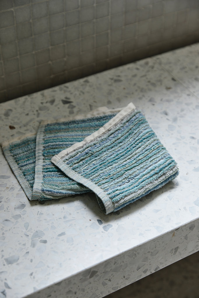 Ocean Stripe, Face Towel