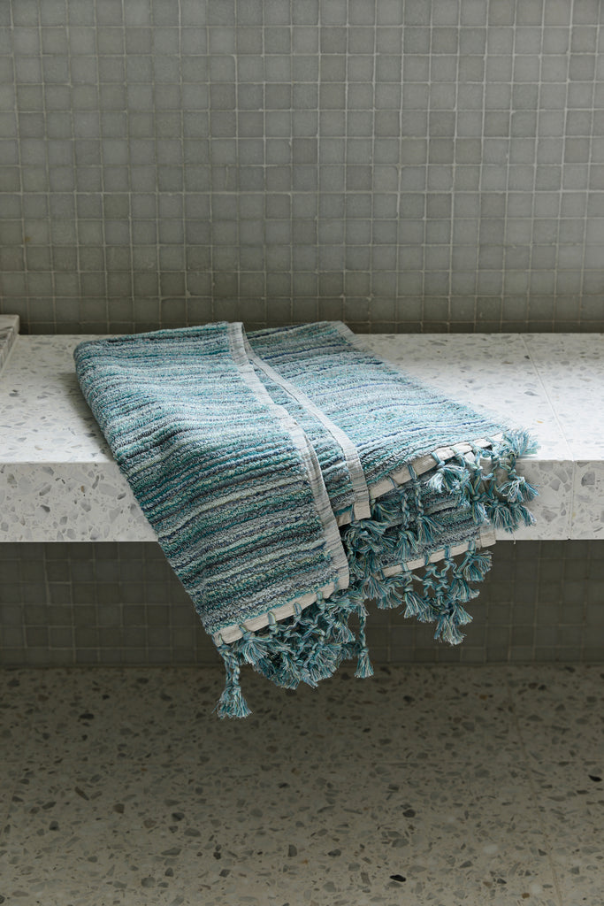Ocean Stripe, Bath Mat