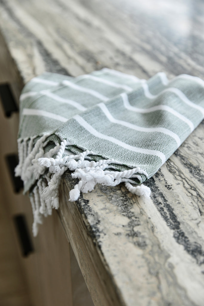 Kitchen Tea Towel, Forest Stripe