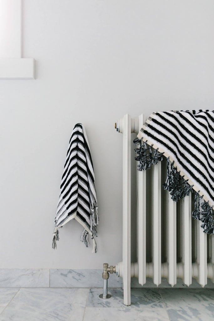 Black & White Stripe, Bath Mat