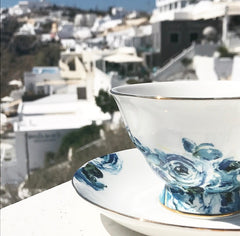 tea cup in santorini