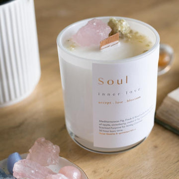 soul crystal candle