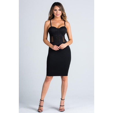 Heather Vamped Up Dress - Dime Piece Clothing