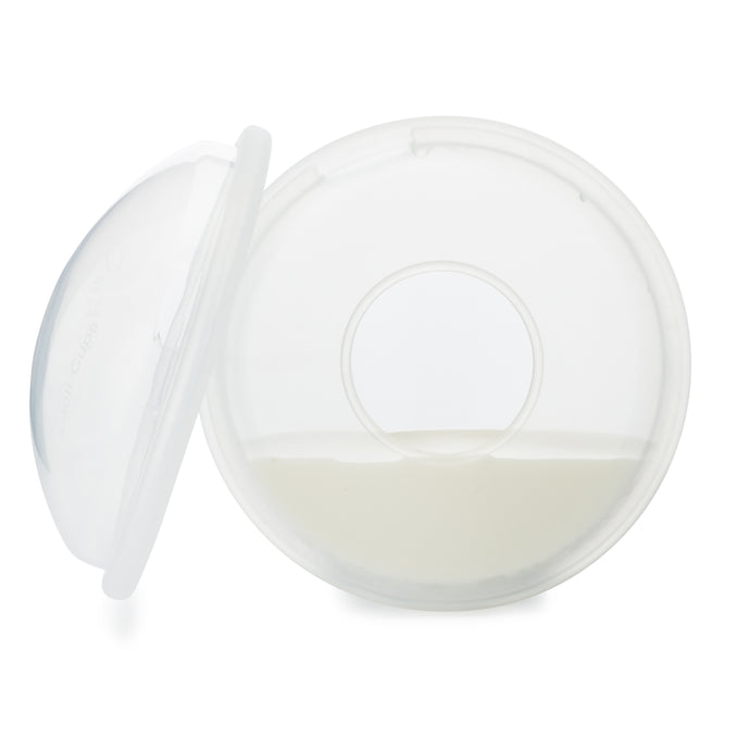 Lacti-Cups Collects Breastmilk Leaks Set (2), Nursing Cups, with Soft Flexible Silicone