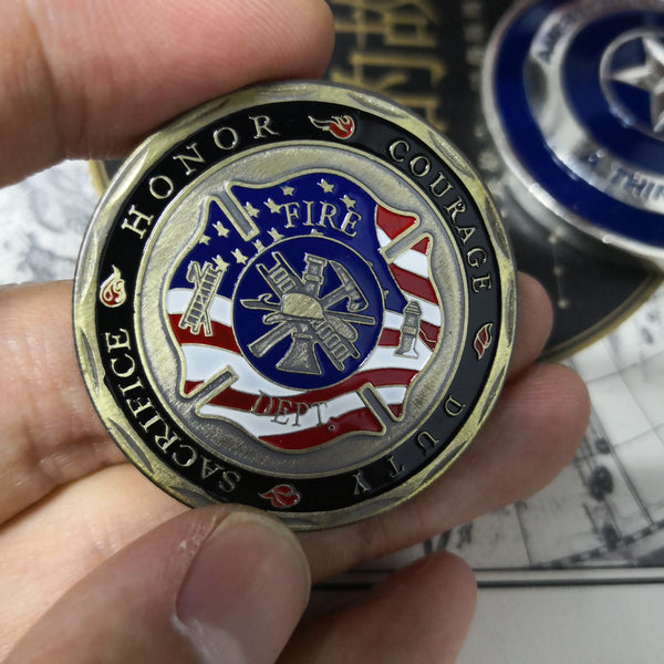 Florian Patron Saint of Firefighters Fire Department Challenge Coins