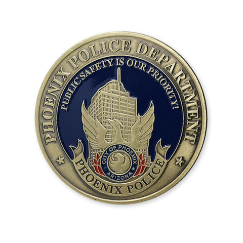Phoenix Police Department of USA St. Michael Bronze Commemorative Challenge Coin