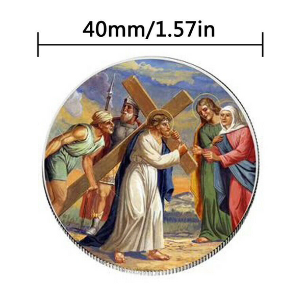 Jesus Christian worship pray bless coin Commemorative Coins Art Collection