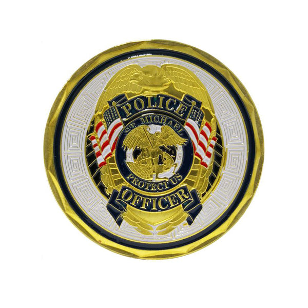 St Michael Police Officer Badge Law Enforcement Protect US Challenge Coin