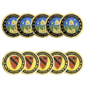 10PCS Sky Troopers Frist Team First Cavalry Division Patron Saint Challenge Coin