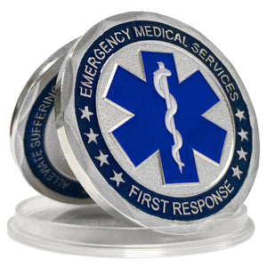 Emergency Medical Services First Response Patron Saint Challenge Coin