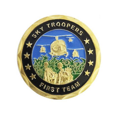 1/5PCS Sky Troopers Frist Team First Cavalry Division Patron Saint Challenge Coin wholesale