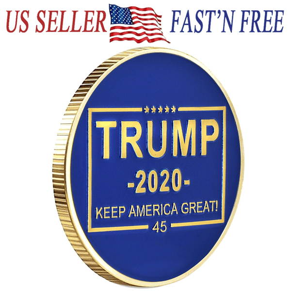 Donald Trump 2020 Keep America Great! 45th Presidential Seal Gold Challenge Coin