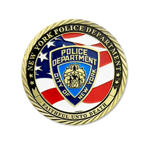 US Department New York Police Department NYPD Challenge Coin Collectible Gift