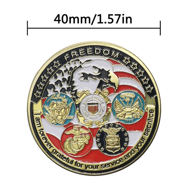 Military Challenge Coin Army All Branches USCG USMC ARMY NAVY USAF