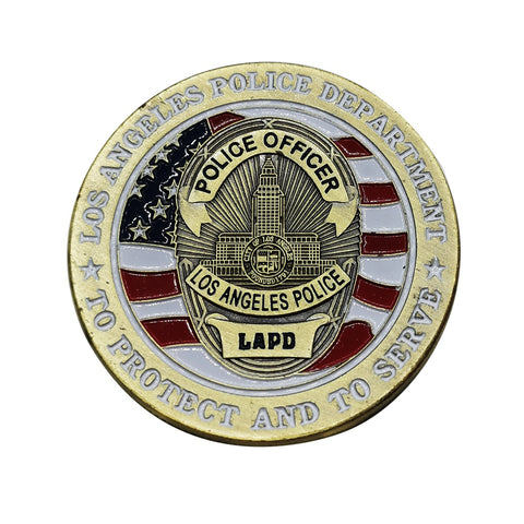 Los Angeles Police Officer Badge Challenge Coin Commemorative Collectible Coins