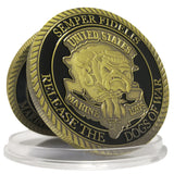 The Dogs of War Coin Semper Fidelis Marine Corps Collect Challenge Coins