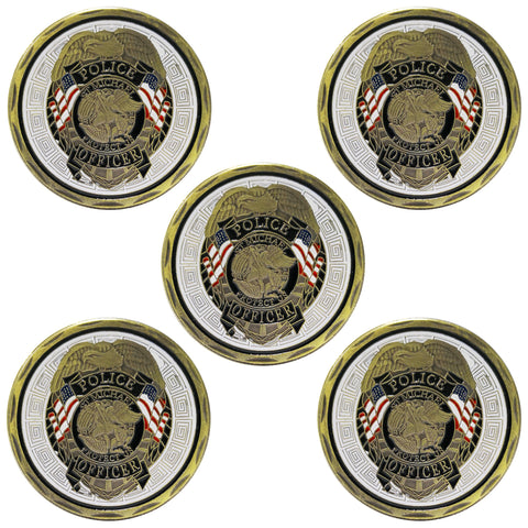 5PCS St Michael Police Officer Badge Law Enforcement Challenge Collectible Coin wholesale