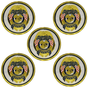 5PCS St Michael Police Officer Badge Law Enforcement Protect US Challenge Coin wholesale