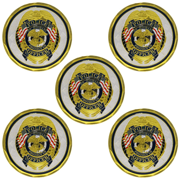 5PCS St Michael Police Officer Badge Law Enforcement Protect US Challenge Coin
